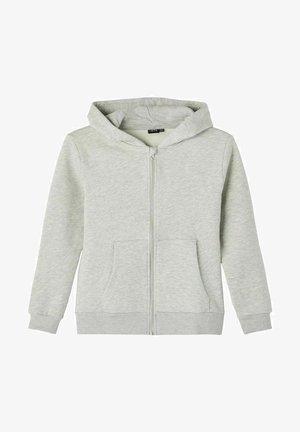 LANGÄRMELIGES - Zip-up sweatshirt - light grey melange