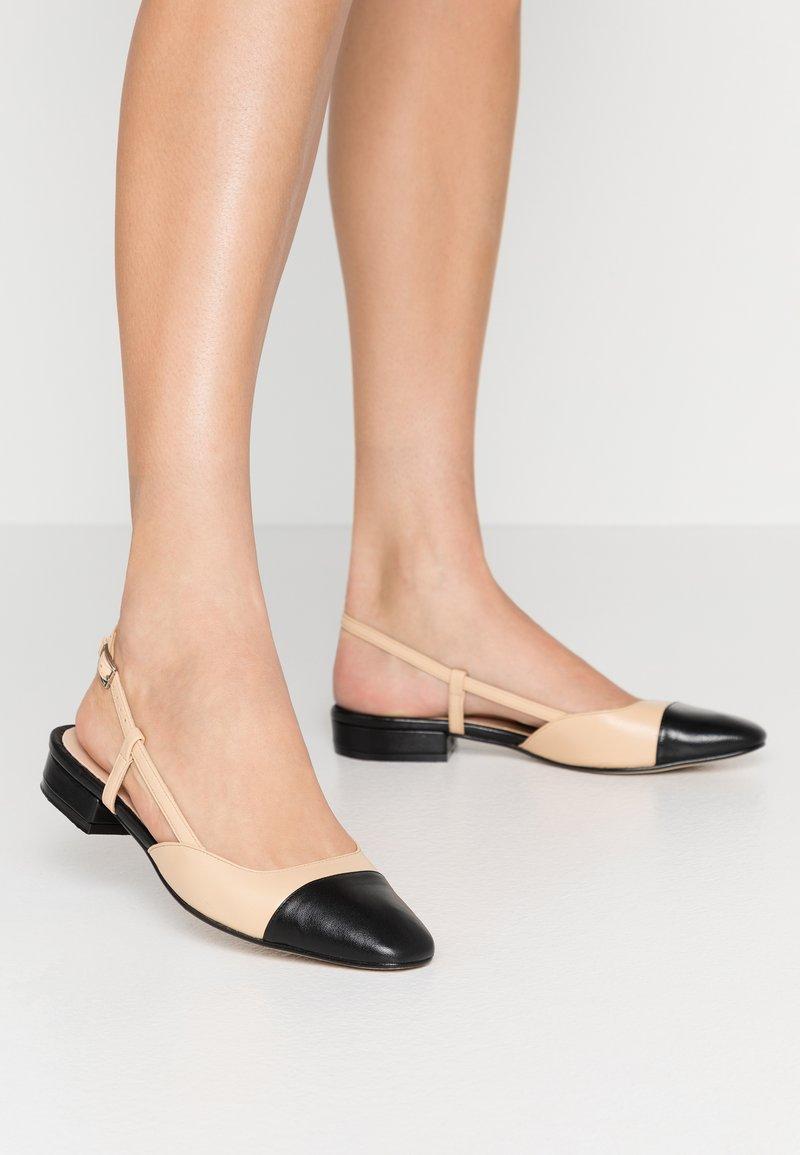 Jonak - DHAPOU - Slingback ballet pumps - noir/beige