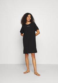 Calvin Klein Underwear - NIGHTSHIRT - Nightie - black - 0