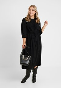 JUNAROSE - by VERO MODA - JRPALOMIA 3/4 SLEEVE MIDI DRESS - Day dress - black - 2