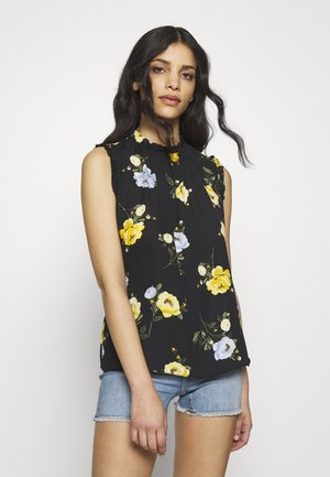 BILLIE PETITE FLORAL NECK SLEEVELESS SHELL TO - Blusa - black