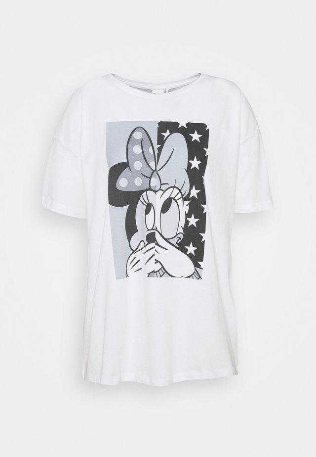 ONLDISNEY OVERSIZE LIFE - T-shirts med print - bright white