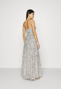 Maya Deluxe - ALL OVER EMBELLISHED BANDEAU MAXI - Occasion wear - soft grey - 2