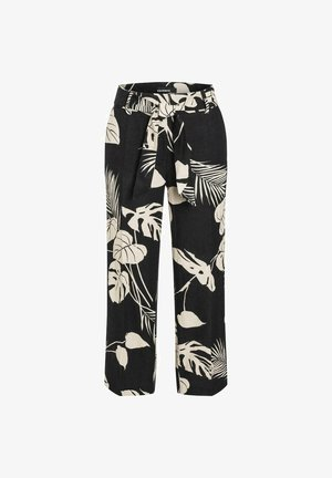 Trousers - black/sand natural leaf