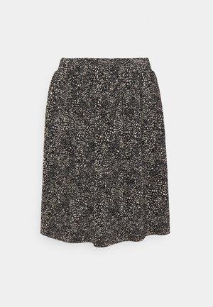 ONLTAMMIE SHORT PLISSE SKIRT - Mini skirt - black/white