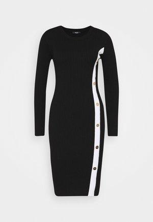 ABITO MAGLIAM - Pouzdrové šaty - nero/bianco