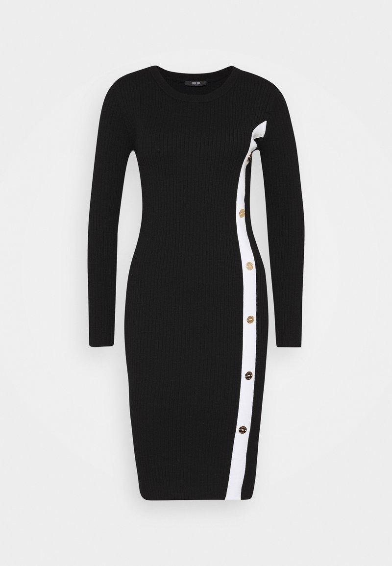 Liu Jo Jeans - ABITO MAGLIAM - Shift dress - nero/bianco