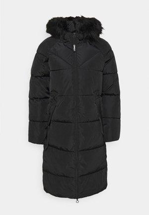 ONLMONICA LONG PUFFER COAT  - Zimní kabát - black