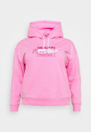 FLAG HOODIE - Mikina - pink daisy