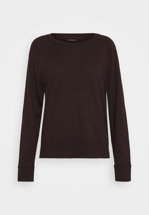RAGLAN SLEEVE - Jumper - dark chocolate