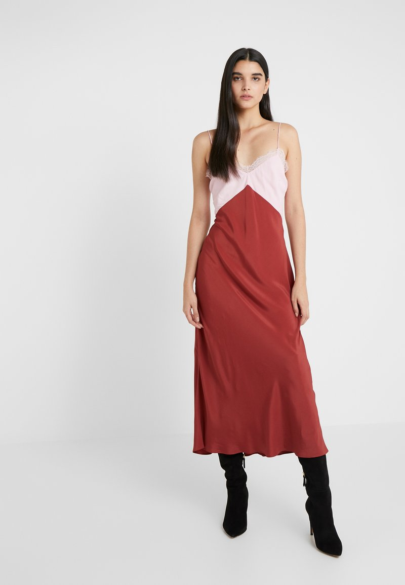 Patrizia Pepe - ABITO DRESS - Vestito lungo - peony/rosewood