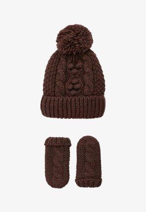 2PIECE  - Gloves - dark brown