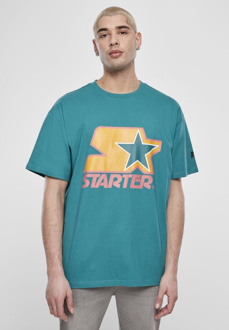 Starter - Print T-shirt - green/yellow/rose
