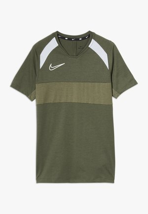 DRY ACADEMY  - Sports shirt - khaki/white