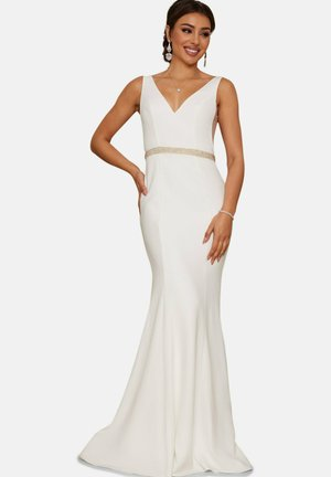 NECK BRIDAL WEDDING WITH EMBELLISHMENT - Occasion wear - white