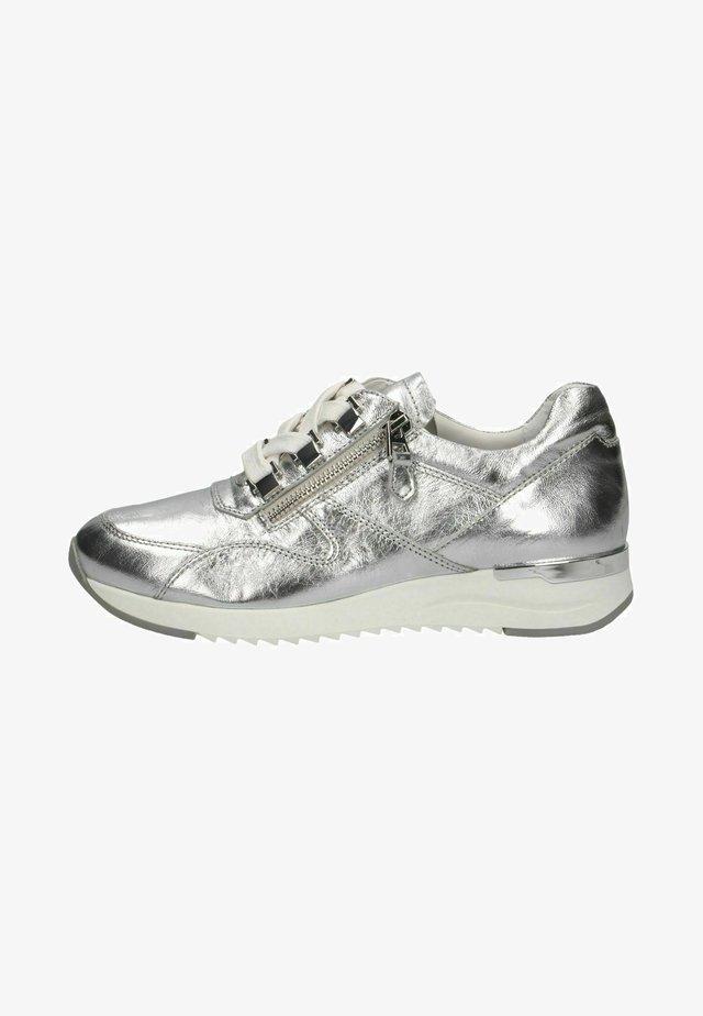 Sneakers laag - silver metal.