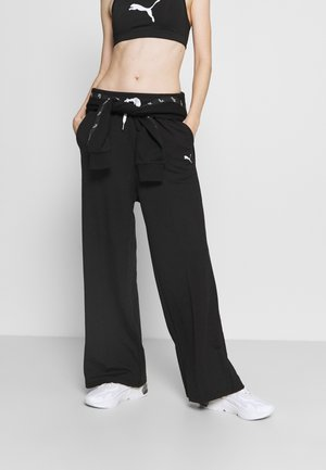 MODERN SPORTS WIDE PANTS - Tracksuit bottoms - black
