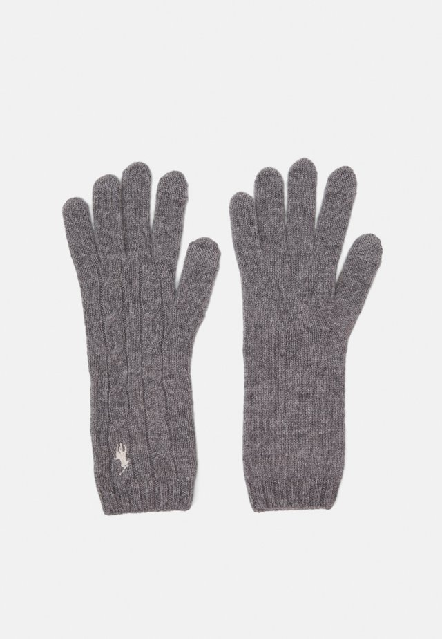 Gloves - fawn grey heather