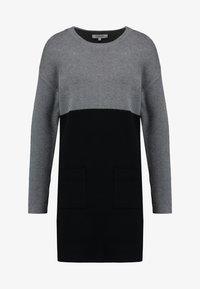 Morgan - Strikket kjole - noir/gris - 4