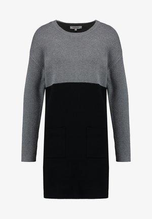 Jumper dress - noir/gris