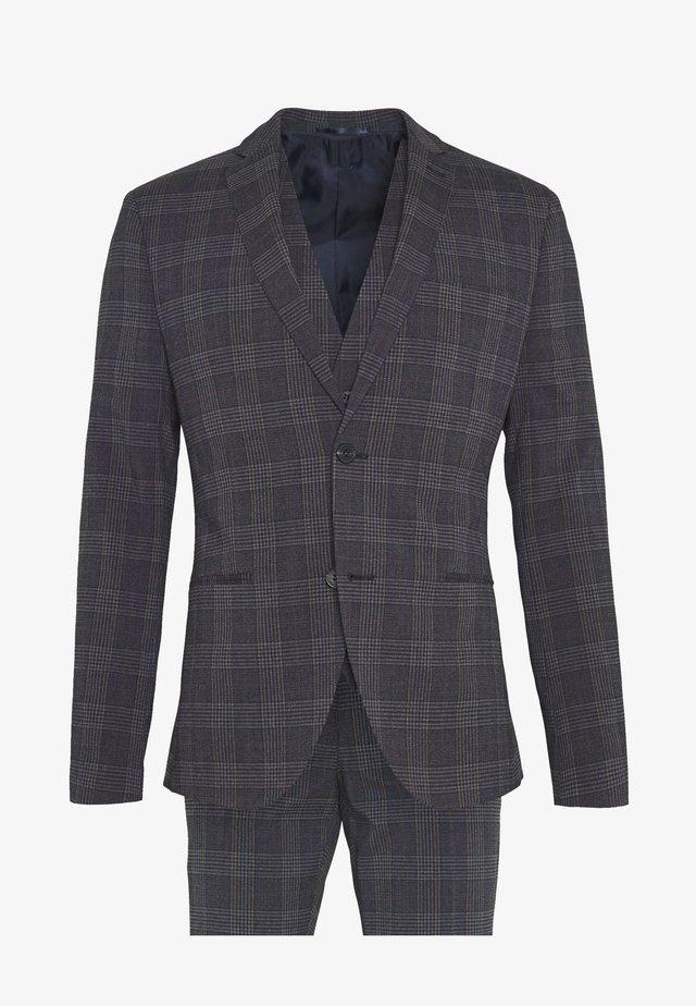 BOLD CHECK 3PCS SUIT - Suit - dark blue