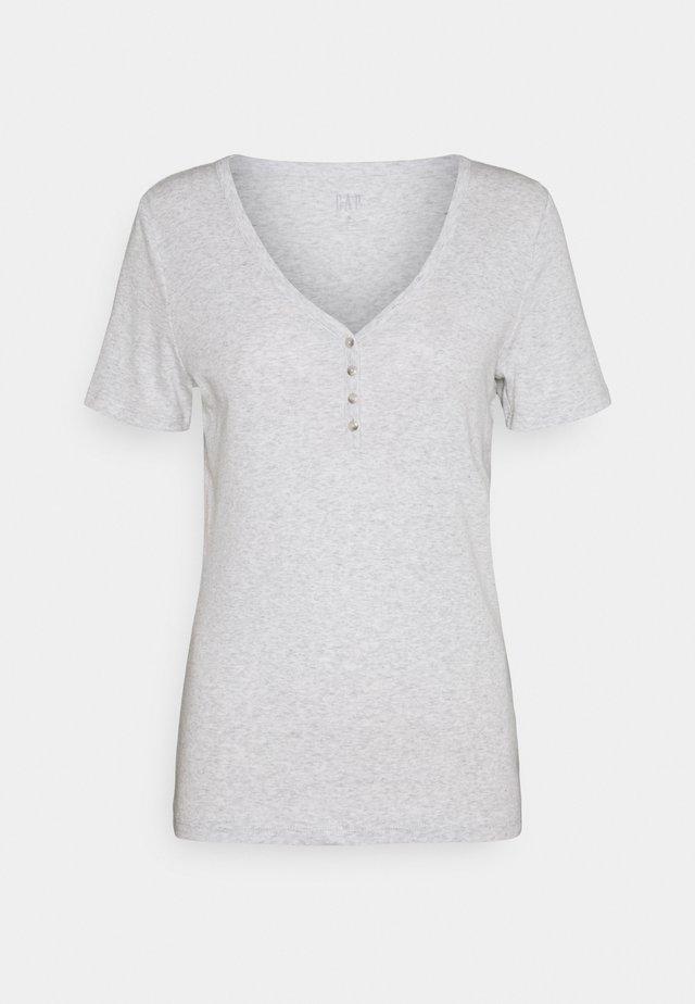 HENLEY TEE - Basic T-shirt - grey