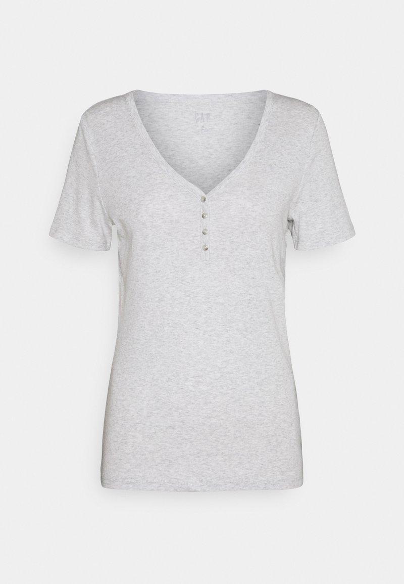 GAP - HENLEY TEE - Basic T-shirt - grey