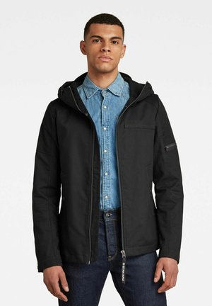 BATT HOODED OVERSHIRT - Summer jacket - dk black