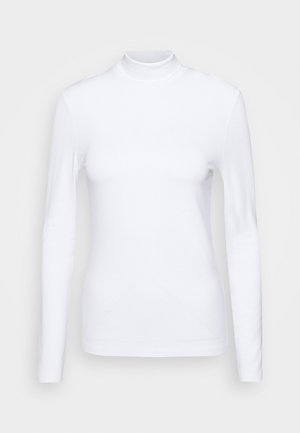 LONGSLEEVE WITH TURTLE NECK - Camiseta de manga larga - white