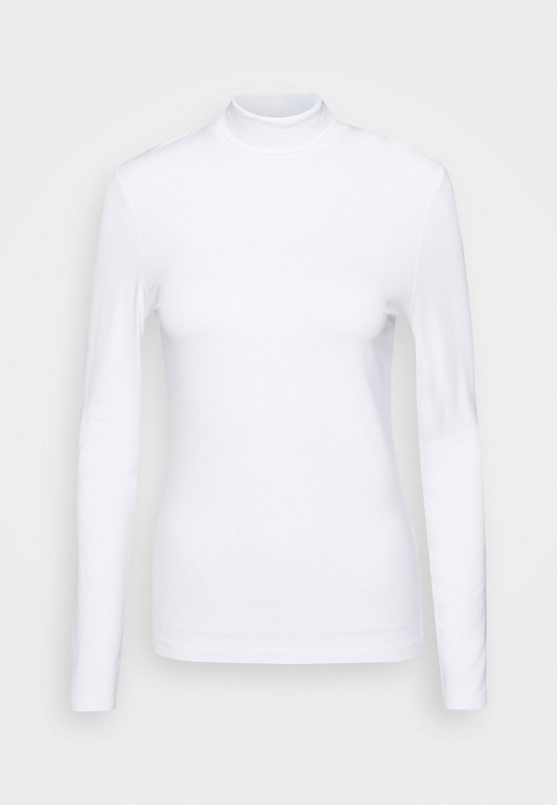 Rich & Royal - LONGSLEEVE WITH TURTLE NECK - Long sleeved top - white