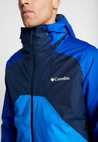 Columbia - RAIN SCAPE JACKET - Impermeable - collegiate navy/azul, azure blue/collegiate navy zips - 4
