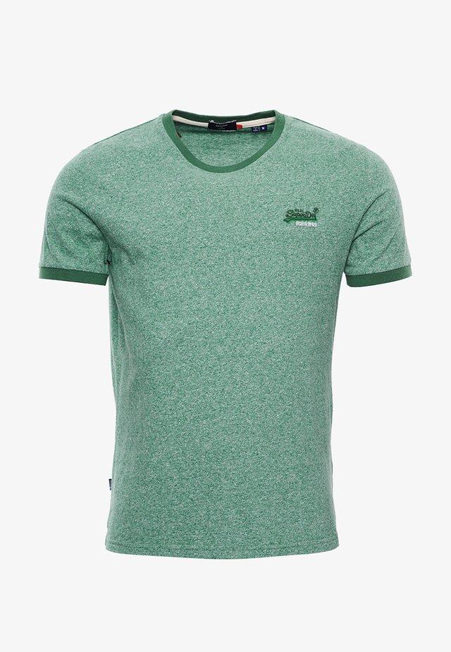 ORANGE LABEL - Basic T-shirt - vintage green grit