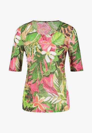 T-shirts print - violet/pink/green