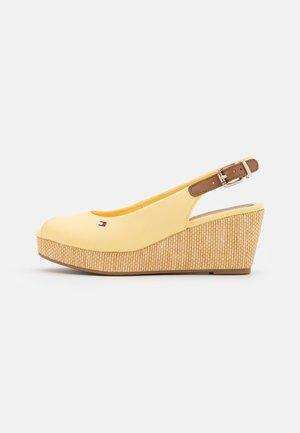 ELBA - Platform sandals - delicate yellow