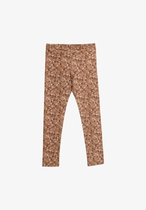 Leggings - Trousers - caramel flowers