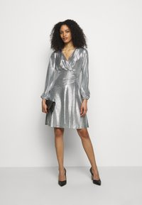 Lauren Ralph Lauren - DRESS - Cocktail dress / Party dress - dark grey/silver - 1