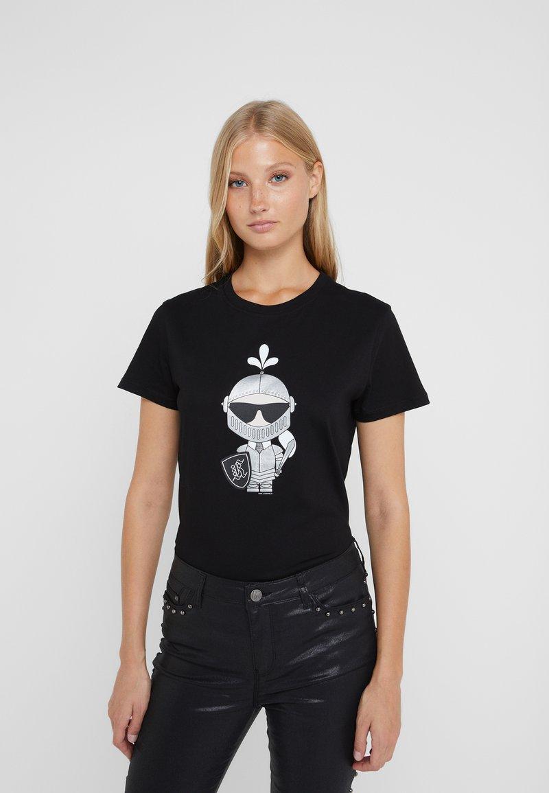 KARL LAGERFELD - KARL'S TREASURE KNIGHT T-SHIRT - Print T-shirt - black