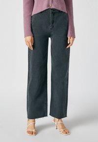 PULL&BEAR - Flared Jeans - dark grey - 0