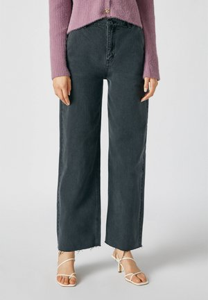 Flared jeans - dark grey