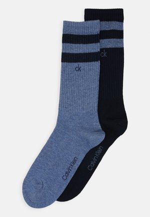 CREW STRIPES CASUAL MAURICE 2 PACK - Socks - blue combo