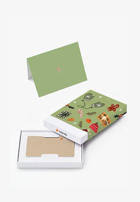 XMAS - Tarjeta regalo en una caja - green