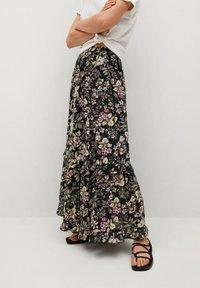 Mango - Pleated skirt - black - 0