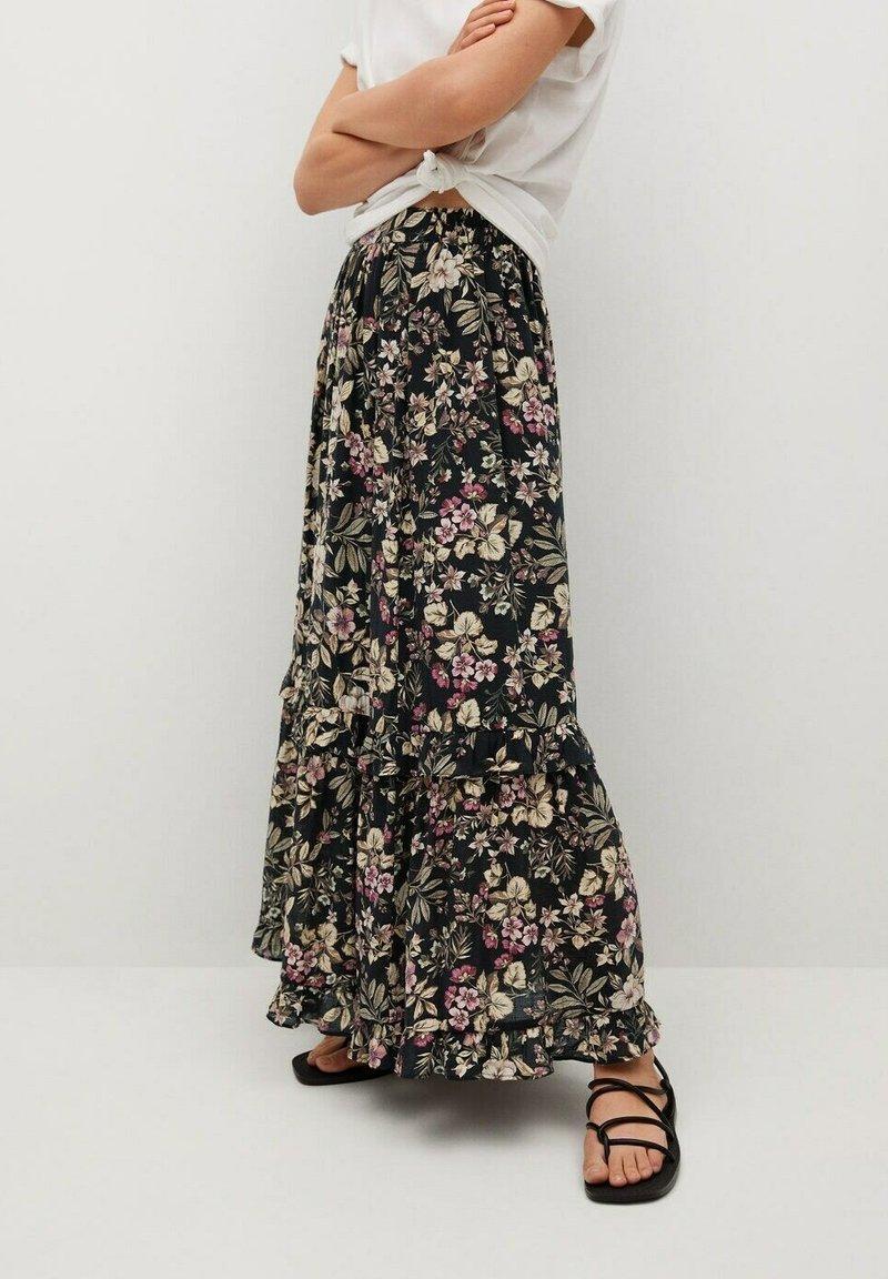 Mango - Pleated skirt - black