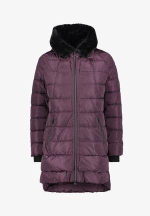 Down coat - dunkelviolett