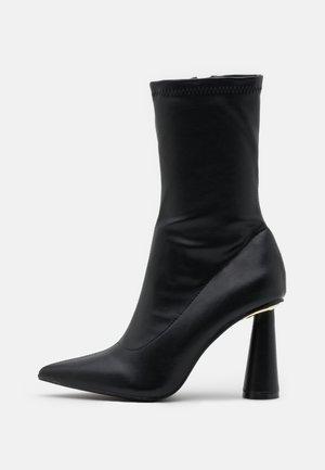LAUREN - High heeled ankle boots - black