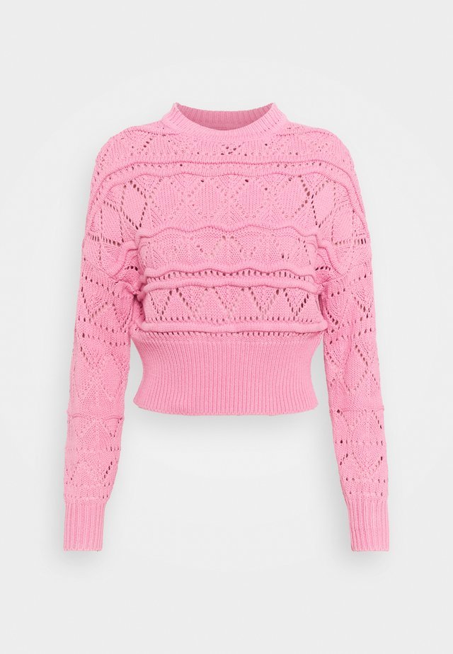 VINOVALA CREW NECK - Pullover - wild rose