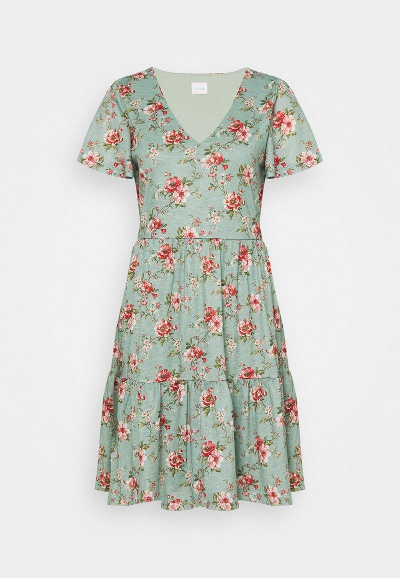 Vila - VINATALIE SHORT DRESS - Jerseykjole - green milieu