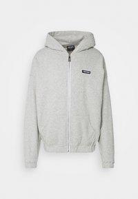UNISEX  - Sweat à capuche zippé - grey