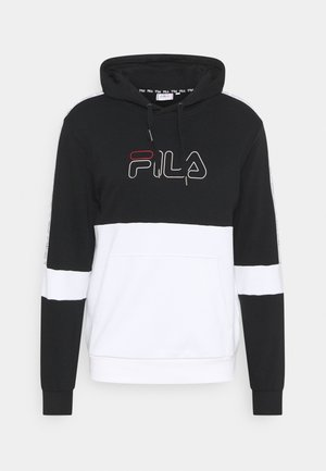 JADON BLOCKED TAPE HOODY - Felpa - black/bright white
