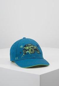 maximo - KIDS BOY MONSTERTRUCK - Cap - jeans/frisches grün - 0